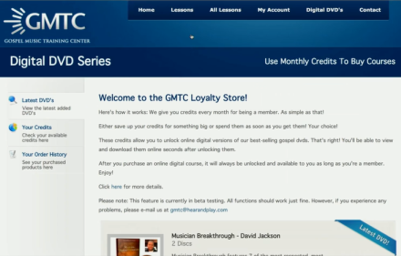 gmtc loyalty store where you can buy products with your points