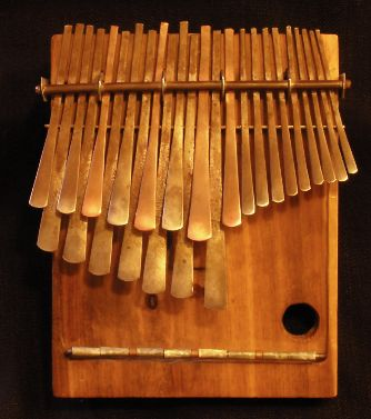 a kalimba thumb finger piano in wood