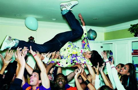 noisy neighbours having fun in a house party